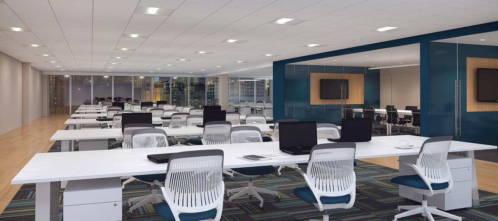 Open Office Focal Point Lights