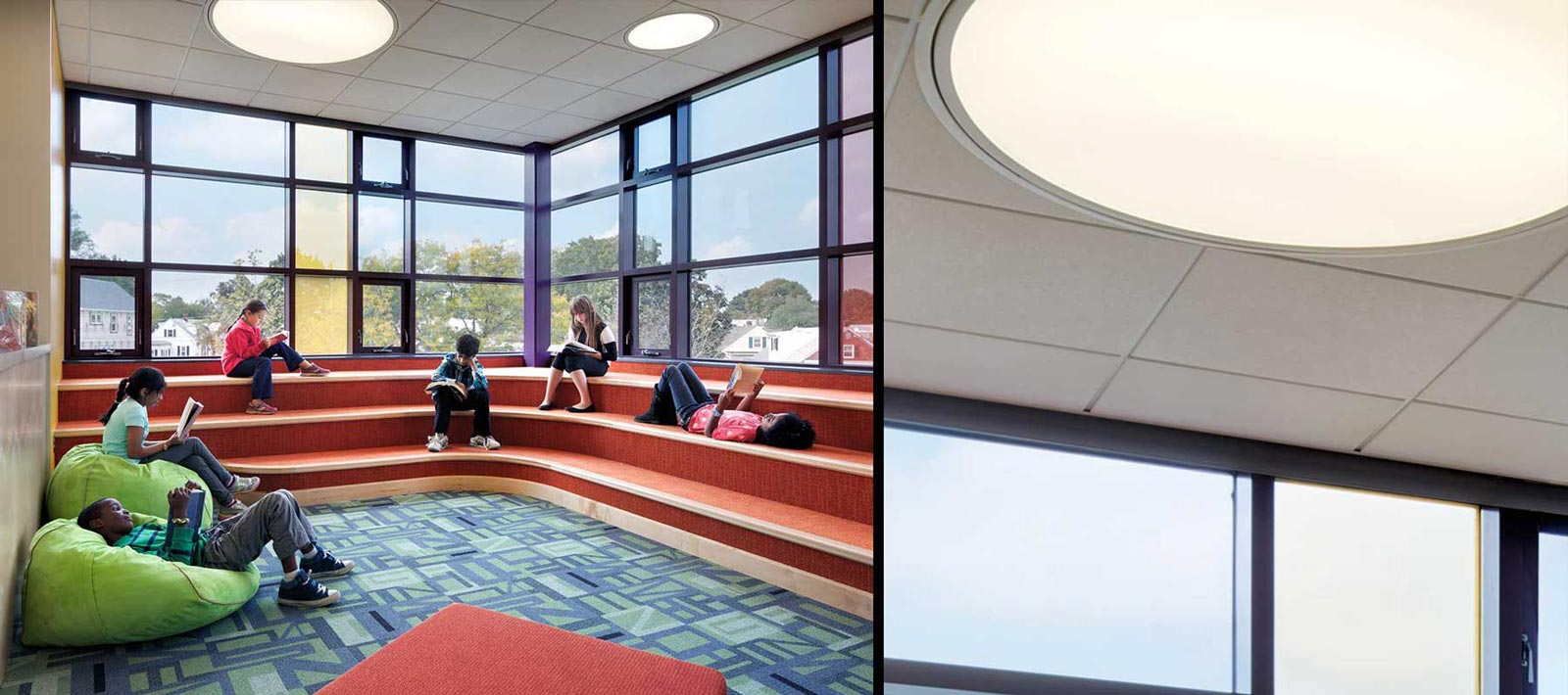 Education focal point lights for Skydome light fixture