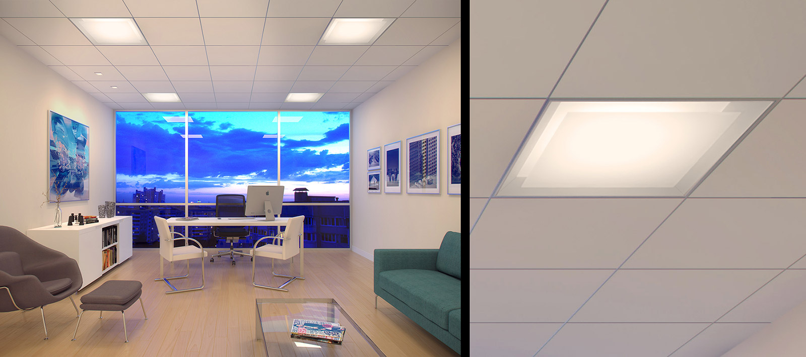 Private Office Focal Point Lights